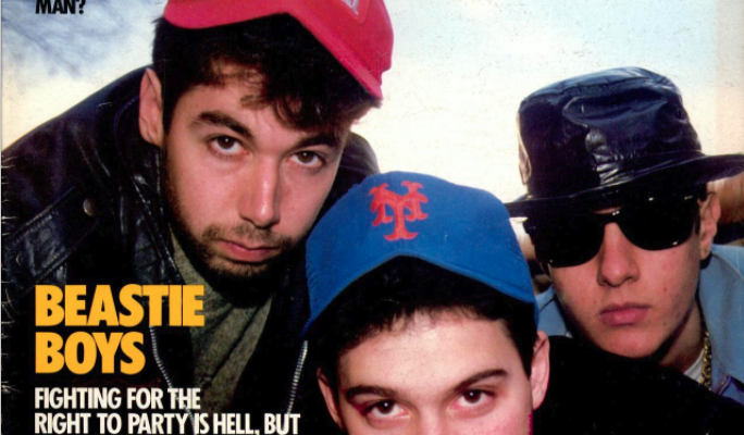 The cover of Spin Magazine from March, 1987 featuring Beastie Boys