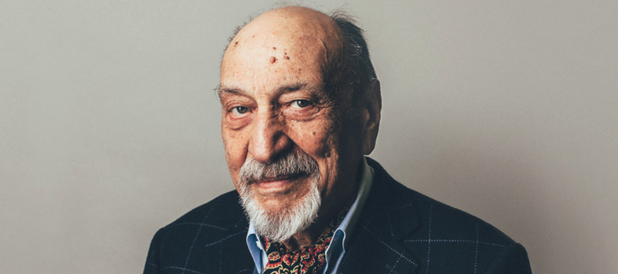 A photo of the graphic designer Milton Glaser